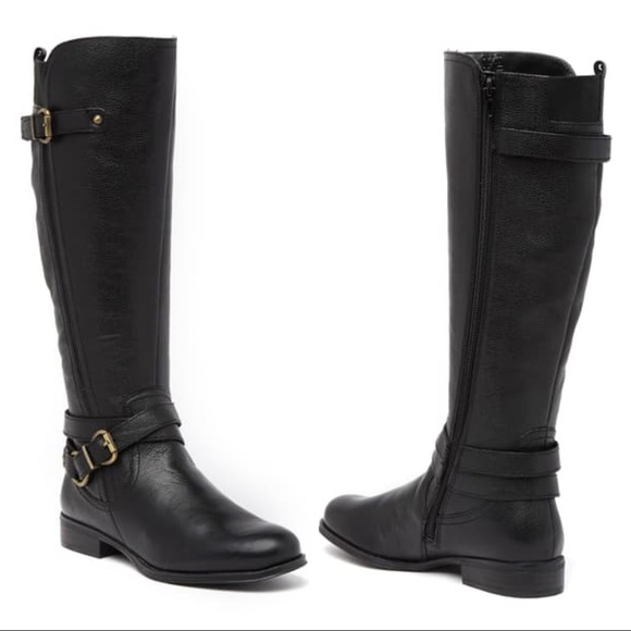 Naturalizer June Knee High Riding Boot Black 6